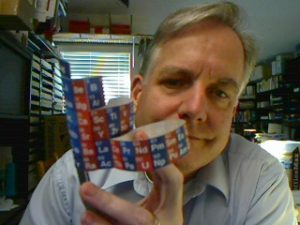 Steve with epicylindrical periodic table